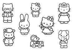 Print Hello Kitty Friends And Family Coloring Pages or Download Hello Kitty Friends And Family Coloring Pages – Free Online Coloring Pages For Kids