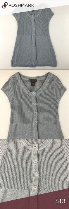 """✨3 for $15✨Hooked up by lot Cardigan Hooked up by lot half open cardigan in very good used condition  •25 1/2"""" Shoulder to hem Sweaters Cardigans"""