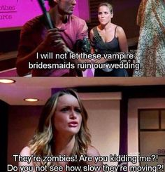 Zombie bridesmaid problems... #OneTreeHill