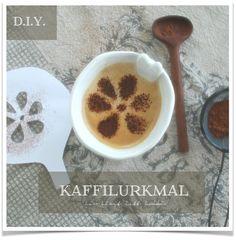 Kaffemal som gir mønster til kaffilurken - D.I.Y. - blomst © Lev Livet Lett Lokki