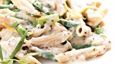 Very easy to make and delicious!  - Organic whole wheat pasta with asparagus