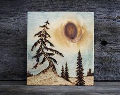 Sky Dancer - Wood burning Art - Tree Landscape