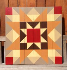 Old Mill Stream block as a barn quilt. (from Knockout Blocks & Sampler Quits by Judy Martin.)