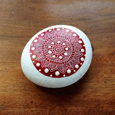 Red Mandala Pebble | Flickr - Photo Sharing!