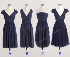 navy bridesmaid dress cheap bridesmaid dresses by sofitdress, $90.00