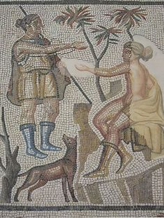 Gallo-Roman Mosaic Floor depicting Diana and Callisto Surrounded by Hunt Scenes Villelaure France 3rd century CE Hearst Collection by mharrsch, via Flickr