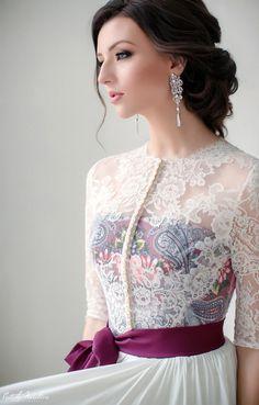 Satin Wedding Dress | Атласное свадебное платье «Зимняя сказка» — Купить, заказать, платье, свадьба, свадебное платье, атлас, кружево, ручная работа