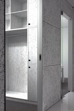 w_03/photo:yuki_ohmori Gray Interior, Cafe Interior, Contemporary Interior, Interior Design, Osb Plywood, Plywood Furniture, Chipboard Interior, Painted Osb, Modern Restaurant Design