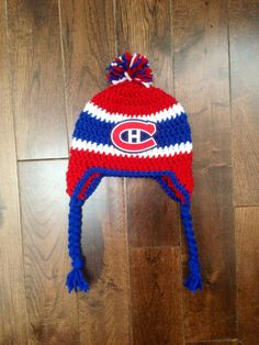 3650216e804b Handmade Montreal Canadiens Crochet Hat with NHL Patch  Photo Prop  (newborn-adult  made to order)
