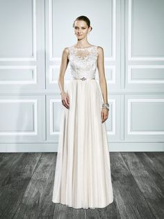 Bohemian gold bridal gown | Style T697 | Moonlight Tango // #SuzannesBridalBoutique #Fall2015