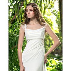A-line Plus Sizes Wedding Dress - Ivory Floor-length Square Georgette Wedding Dresses Wedding Dresses Under 100, Cheap Wedding Dress, Formal Prom, Formal Evening Dresses, Dresses Uk, Dresses Online, Bridal Gowns, Wedding Gowns, Plus Size Wedding