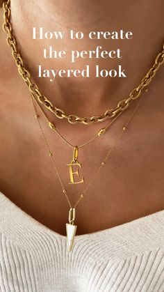 Create the perfect look this summer with our luxury gold necklaces & pendants. Creating a layered look will be unique to your style. Dainty Jewelry, Women's Jewelry, Statement Jewelry, Jewelry Ideas, Jewellery, Gold Necklaces, Gold Pendant Necklace, Layered Necklace Set, Daughter Necklace