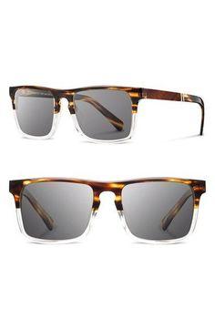 29f611e76afec Tendance lunettes   Mens Shwood Govy 2 53mm Sunglasses Pearl Grey  Ebony   Dark Grey