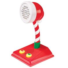 """The direct line to Santa! Tell Santa you have been good all year and what you want for Christmas. Ask Santa anything up to nine times in a row, and he can respond in six different ways. Ages 3 and up. Uses 3 AA batteries (not included). 10"""" H. Plastic. Imported."""