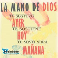 La mano de Dios siempre nos sostiene