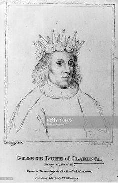 Circa 1475, George Plantagenet, 3rd of Duke of Clarence, (1449 - 1478), third son of Richard, Duke of York, brother of Edward IV and Richard III.