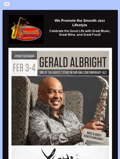 Gerald Albright at Yoshi's Jazz Club, Oakland, CA on February 3-4, 2017.