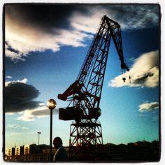 #Bilbao  #grua #Karola