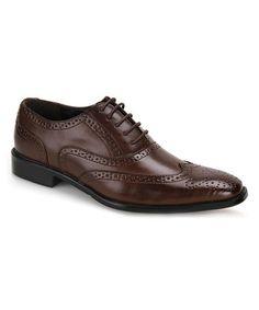 Brown Tonal-Detail Oxford #zulily #zulilyfinds
