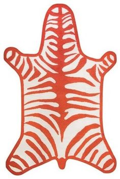 Jonathan Adler Zebra Bathroom rug...so fun for boys adventure bathroom