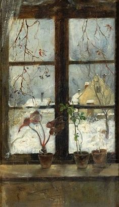 Henry Alexander - 'Snow scene through a winter... on MutualArt.com