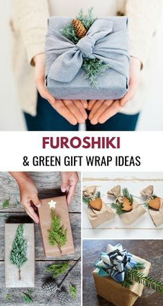 Furoshiki and Green Wrapping Paper IdeasYou can find Wrapping papers and more on our website.Furoshiki and Green Wrapping Paper Ideas Christmas Gift Wrapping, Christmas Crafts, Wrapping Gifts, Wrapping Papers, Wrap Gifts, Japanese Gift Wrapping, Christmas Christmas, Green Wrapping Paper, Green Paper