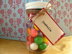 Mini Mason Jars w/ Lid & Custom Tag -  Wedding Favors, Bridal Shower Favors, Kid Favors on Etsy, $4.75
