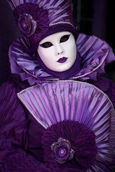 Purple Venetian Carnival Masks