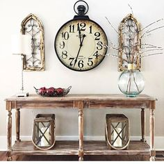 Our handmade decorative wall panels are a combination of wood and metal panels that add architectural detail to any space. Decorate with both style wall panels or just one. For more visit, Decor Steals Vintage Farmhouse Decor, Country Farmhouse Decor, Vintage Home Decor, Rustic Decor, Antique Farmhouse, Country Homes, Farmhouse Ideas, Farmhouse Design, Farmhouse Style