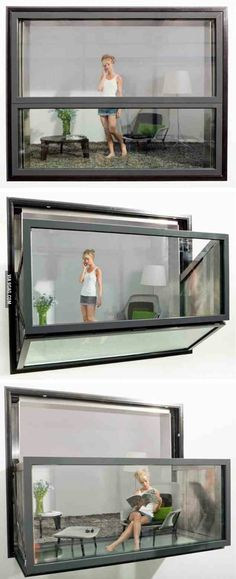 Window that turns into a balcony