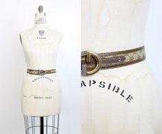70s Gucci Belt Medium Large  / 1970s Vintage Brown Leather
