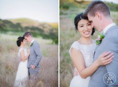 Romantic Couple Portraits in the field.   Bommer Canyon Wedding, Photography by Clove and Kin