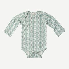 long sleeve lap neck bodysuit | bamboo | painted argyle