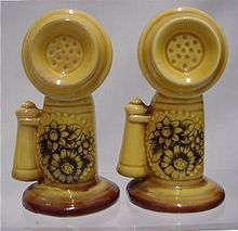 Vintage Telephone Salt & Pepper Shakers - and people liked to collect all kinds and shapes of salt and pepper shakers