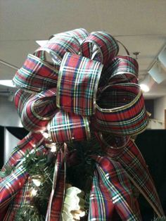 Plaid bow  tree topper - a nice traditional option for a topper!