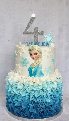 Frozen torta pre Vivien, autorka: amerikaYou can find Frozen birthday cake and more on our website. Frozen Themed Birthday Cake, Frozen Birthday Theme, Frozen Themed Birthday Party, Themed Cakes, Birthday Parties, Frozen Theme Cake, Frozen Cupcakes, 5th Birthday, Birthday Cakes For Girls