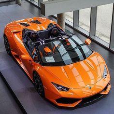 A Lamborghini Huracan Spyder