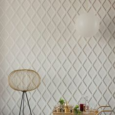 POMPEIAN Wallpaper. This classic Cole & Son trellis wallpaper design has been reduced in scale and given a sophisticated touch using shades of linen, dove and charcoal grey to create a trompe I'oeil lattice effect pattern. Design Is Inspired By Everything.