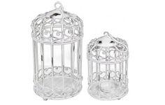 Birdcage Wedding Card Box Holder Set / Wishes / Rustic / Bird Cage Wedding Set