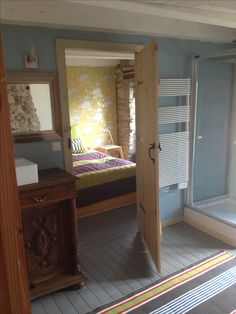 Double room view from En-suite (including large bath, shower, basin and toilet).