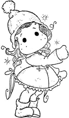 Winter Wonderland 2013 -Show The Way Tilda Christmas Coloring Pages, Coloring Book Pages, Magnolia Colors, Copics, Digital Stamps, Christmas Colors, Colorful Pictures, Paper Art, Drawings