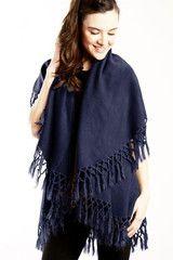 Blueberry Tassels shawl vest