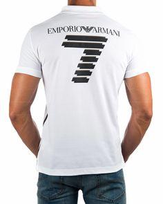 Polos Armani EA7 Blanco - Vip Logo Envio Gratis