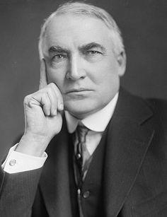 #29 Warren Gamaliel Harding (b1865 - d1923). In office: 1921-1923 (Republican). 1 of 6 presidents from Ohio. Worked as a newspaper publisher.