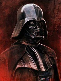 Darth Vader Star Wars portraits by Tariq Raheem Star Wars Fan Art, Darth Vader, Star Wars Darth, Dark Side, Starwars, Images Star Wars, Cuadros Star Wars, Star Wars Painting, Star Wars Wallpaper