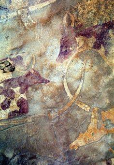 sahara-cattle-rock-art Sure looks like Holsteins