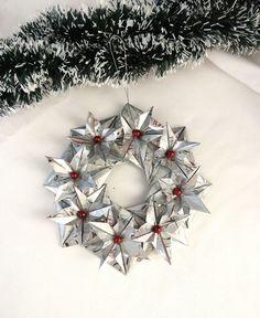 Christmas wreath, Origami wreath, Acorn door hanger, Paper Xmas wreath, Christmas door hanger, Xmas door decor, Xmas acorn door hanger by TheWorldinpaper on Etsy