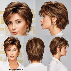 Ženy, Skúsite Obyčajný Melír, Vyzerá To - Hair Beauty Shaggy Short Hair, Short Sassy Hair, Short Layered Haircuts, Haircut For Thick Hair, Short Hair With Layers, Cute Hairstyles For Short Hair, Haircut Short, Modern Hairstyles, Straight Hairstyles