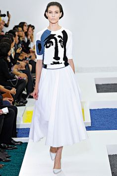 Wearable Art: Jil Sander inspired by Picasso - 2012