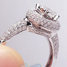 14K White Gold 1.21 SI1 G Round Cut Diamond Womens Engagement Ring #SolitairewithAccents